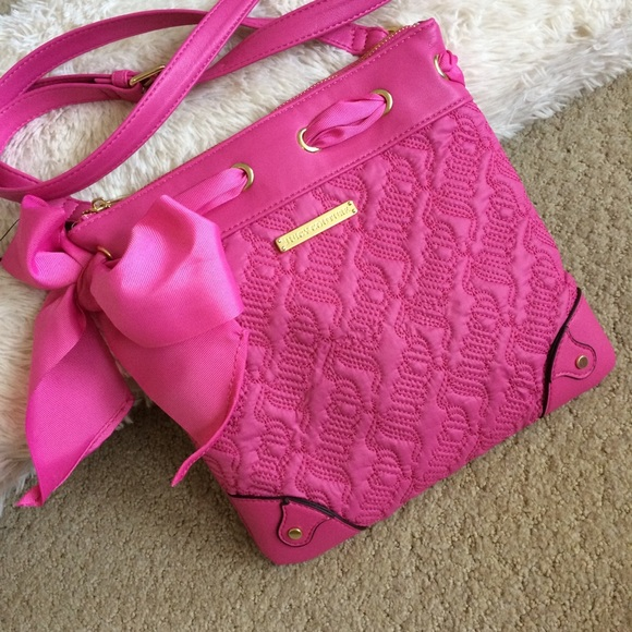 83eff481a0 Juicy Couture Bags | Pink Bag With Bow | Poshmark